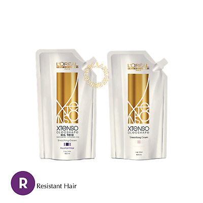 LOREAL XTENSO MOISTURIST Smoothing Cream Straight Perm FOR RESISTANT HAIR R