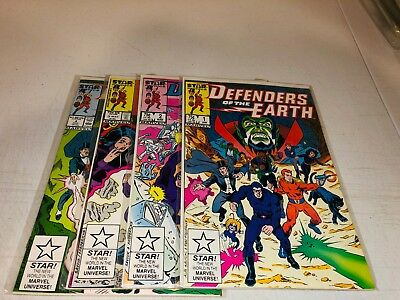 DEFENDERS OF THE EARTH Issues 1 - 4 Complete [Star / Marvel 1987] VF/NM-