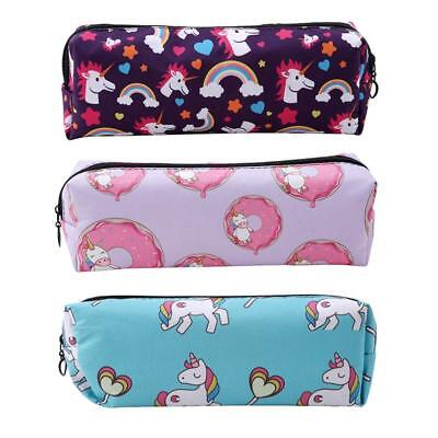 Unicorn Rainbow Cosmetic Zipper Bag Make Up Pouch School College Pencil Case N7