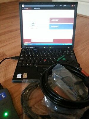DIAGBOX 7.855 LEXIA PP2000 Diagnostic Laptop and REV C interface Citroen Peugeot