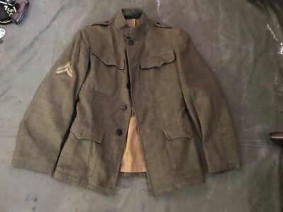 67F Original Wwi Us M1917 Wool Field Tunic- Size Small Meidum 40R