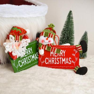 1 Pcs Merry Christmas Welcome Sign Decoration For Door Xmas Tree Window N7