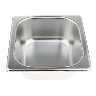 1Pc Special Steam Table Pan 1/6 Size 6.5cm Deep Stainless Steel
