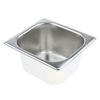 1Pc Special Steam Table Pan 1/6 Size 10cm Deep Stainless Steel