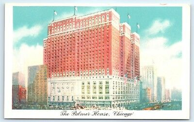 Postcard IL Chicago Palmer House Hotel Vintage View E5