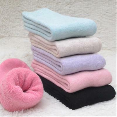 5 Pairs Women's Wool Cashmere Warm Soft Thick Casual Multicolor Winter Socks