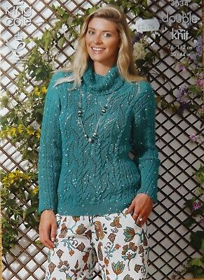 King Cole Galaxy DK Ladies Sweater Knitting Kit
