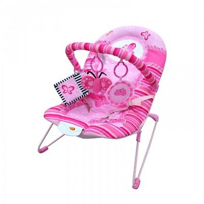 Baby Musical Swinging Vibration Bouncer Chair Rocker – Pink Butterfly