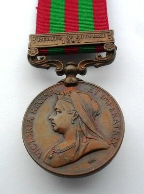 IGS Bronze Medal Clasp Relief of Chitral 1895 Muleteer, Commissariat Transport