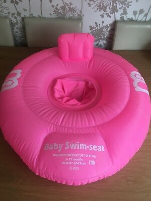 Mothercare Pink Baby Swim-seat 3-12 Months.