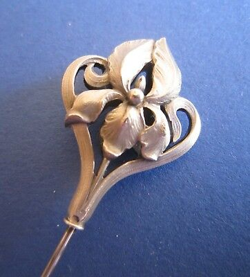 French silver hat pin