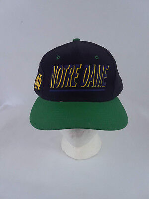 Vintage Notre Dame Top of the World TOW Wool Blend Snapback Hat