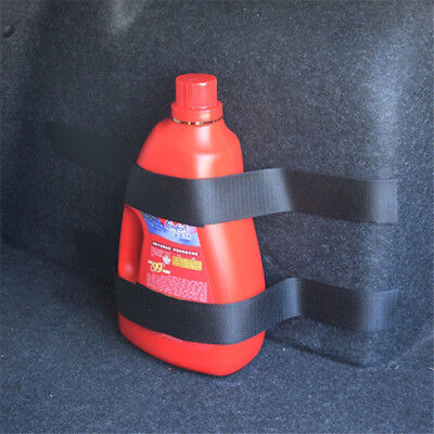 Car Trunk Storage Bag Nylon Sticker Fire Extinguisher Hook and Loop Strap N7