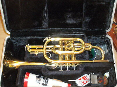 Bundy (Vincent Bach designed) Cornet   Clean and Straight Horn