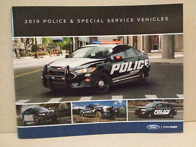 2019 Ford Police And Special Service Factory Brochure.  Interceptor Utility Suv