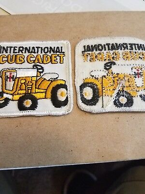 "international harvester CUB CADET patch,2 3/4""x  2.3/4"" new old stock SEW ON"