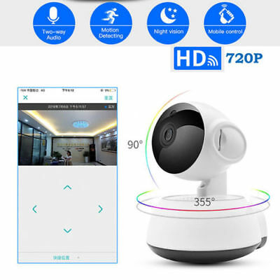 PT Wireless WiFi IP Home Security Camera system 2-Way Audio Night Vision Monitor