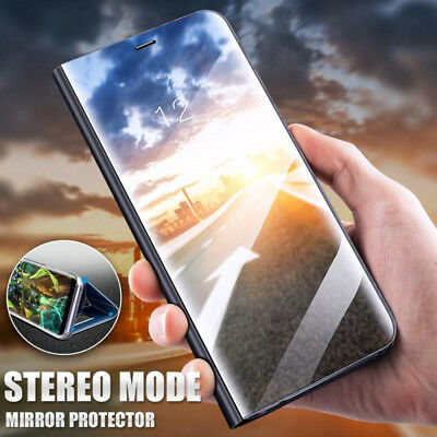 Luxury Smart Mirror Clear View Stand Phone Case Cover For Apple iPhone X XS MAX