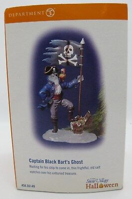 Halloween Village Dept 56 Snow Retired CAPTAIN BLACK BART'S GHOST Brand NEW