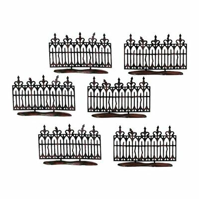 Department 56 Spooky Wrought Iron Fence (Set of 6)