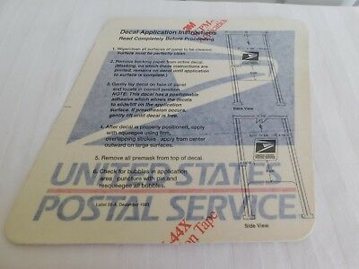 Eagle DECAL STICKER VINTAGE 1993 UNITED STATES POST OFFICE US MAIL USPS