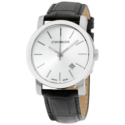 Wenger Urban Classic Vintage Silver Dial Leather Strap Men's Watch 011041122
