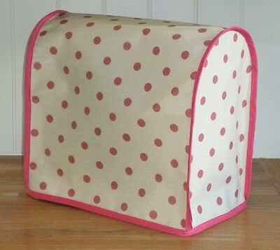 Cerise Edged OILCLOTH Cover for KitchenAid and Kenwood kMix Food Mixers