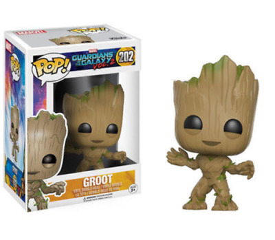 Funko - POP Guardians Of The Galaxy Action Figure Groot Smile #202
