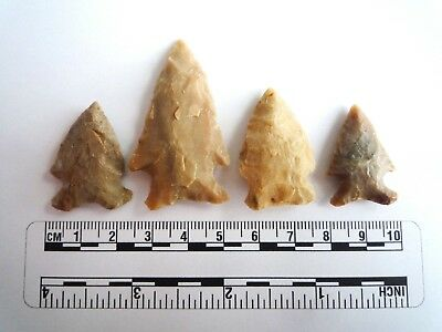 Native American Arrowheads, 4 x High Quality Texas Finds 1000BC  (2290)