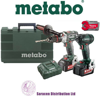 METABO COMBOLTXBL4.0 BRUSHLESS COMBI DRILL & IMPACT DRIVER 2x4.0Ah 18v BATTERIES