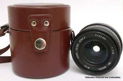 ++ Carl Zeiss Jena II MC Macro Lens F=24 mm 1: 2.8 WIDE ANGLE Lens ++ With case