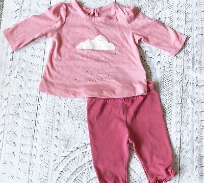 Cute pink baby girl outfit MONSOON & BABY GAP. 0-3 months. Sprinkles