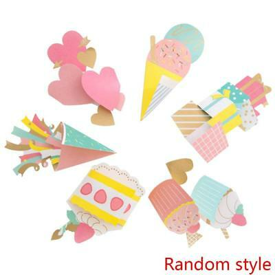 3D Ice Cream Cake Gift Decoration Card Christmas New Year Blessing Birthday Card
