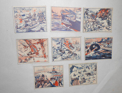 WWII Trading Cards Flash War News Lot of 8 Gum Inc.
