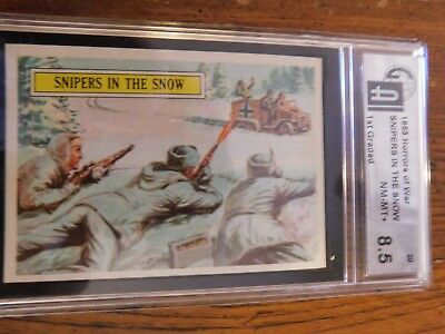 1965 Topps Battle Cards. 2 Card Lot. GAI and PSA graded