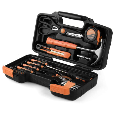 Tool Set Box - Hand Tool Kit & Accessories For General Household DIY Home Repair