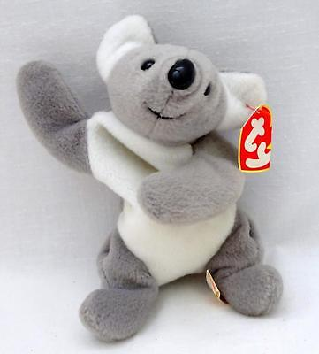 "1996 Ty BEANIE BABIES ORIGINAL Gray MEL Soft Plush 8"" Koala Toy w/ Tag"