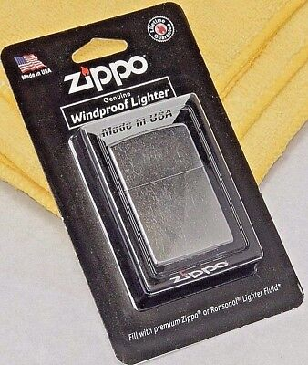 Zippo Genuine Windproof Lighter 207 BP Reg Street Chrome Made in USA