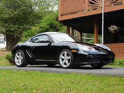2007 Porsche Cayman Beautiful Black w/ Gray Interior ONLY 24,000 MILES, ALWAYS GARAGE KEPT, 5-SPEED, 245 H.P.
