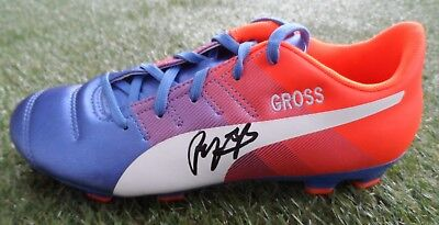 Pascal Gross Hand Signed Embroidered Puma Football Boot - Brighton Autograph 6f1aa508c