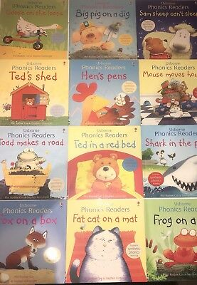 Usborne Phonics Readers 12 book set Supports Synthetic Phonics Learning