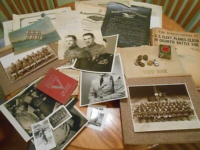 WWII Officer Scrapbook Bronze Star Recipient Bougainville Attack Docs Photos +++