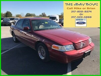 2002 Ford Crown Victoria LX 2002 Ford Crown Victo LX No Reserve Used V8 Automatic RWD Sedan Premium Red