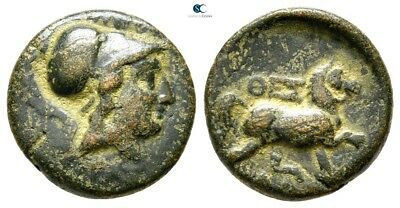 Savoca Coins Thessaly Thessalian League Athena Horse 4,31 g / 16 mm !WFG3941