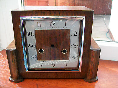 Vintage Clock case with its chrome bezel and glass