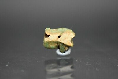 Ancient Egyptian Late period faience Eye of Horus amulet C. 664 - 332 BC
