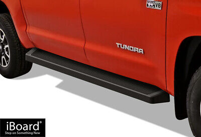 iBoard Black Running Boards Style Fit 07-18 Toyota Tundra CrewMax Cab