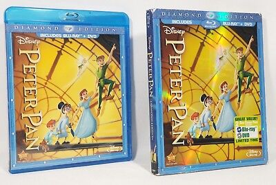 Peter Pan (Disney Blu-ray/DVD, 2013 2-Disc Diamond Edition) w Slipcover