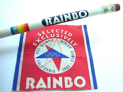 1950s RAINBO BREAD PENCIL &  Bread Loaf End Advertising 1960 California Olympics