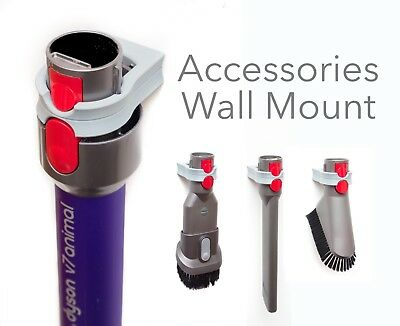 Dyson Wall Mount Accessory holder for V10 / V8 / V7 nozzles | Organiser Fixture
